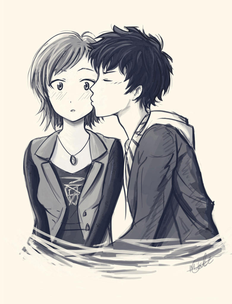 first kiss by mcorderroure on deviantart