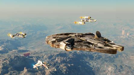 Millenium Falcon Escort - Redux