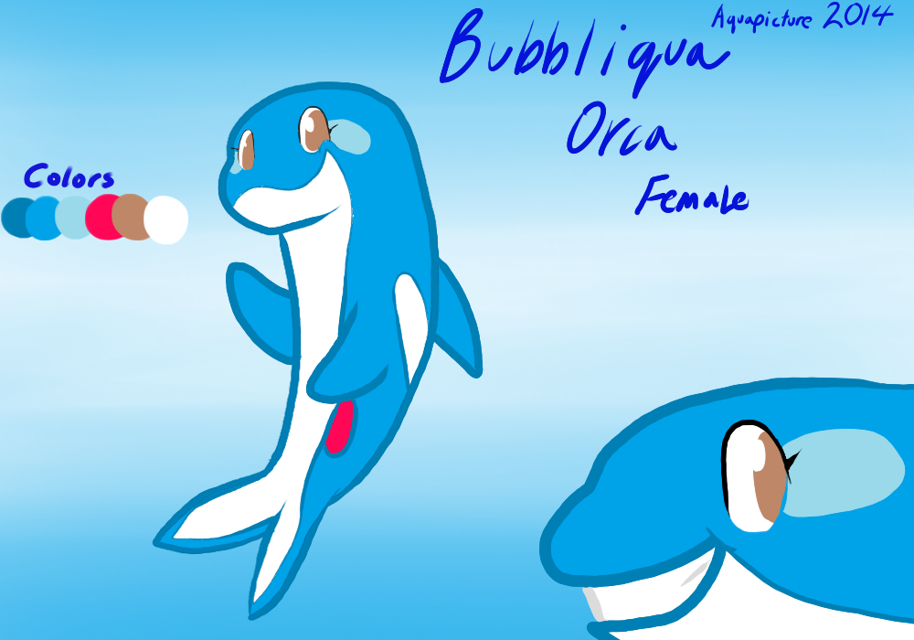 Request: Bubbliqua Reference Sheet by AquaPicture