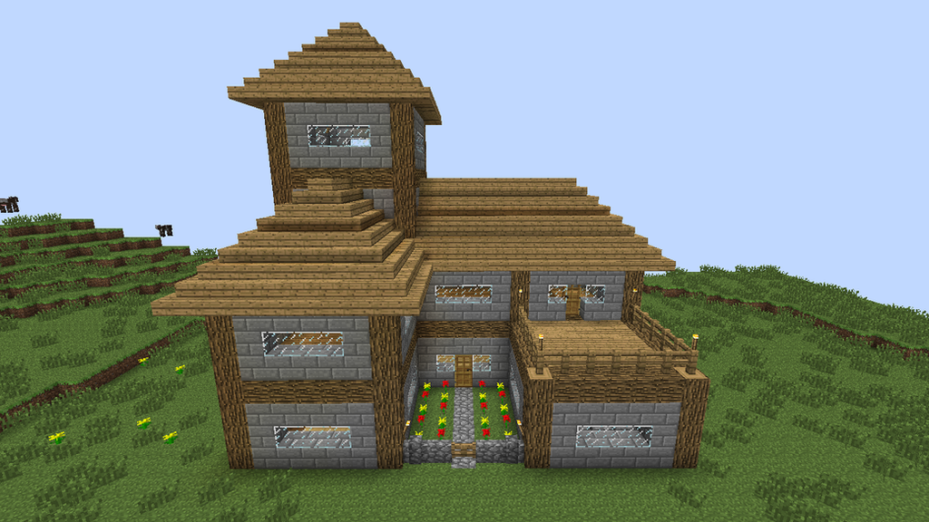 Minecraft survival house by kaliandragonmaster on deviantart for Simple house design made of wood