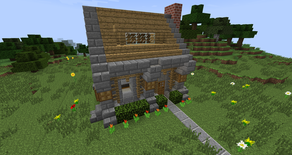 Minecraft Small Survival House on Minecraft Cobblestone House Designs