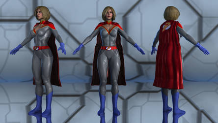 Power Girl Injustice G2F by geminii23
