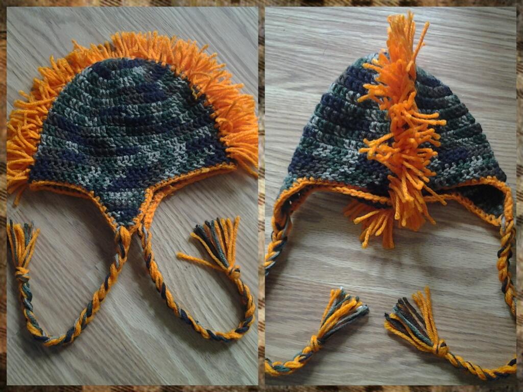 Crochet camo mohawk hat by crochetaholic on deviantart crochet camo mohawk hat by crochetaholic bankloansurffo Images