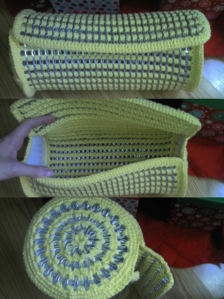 Crocheting With Pop Tabs : makings of crochet pop tab barrel purse by crochetaholic on DeviantArt