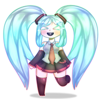 Hatsune Miku [Fan-Art] by MadameSpookie