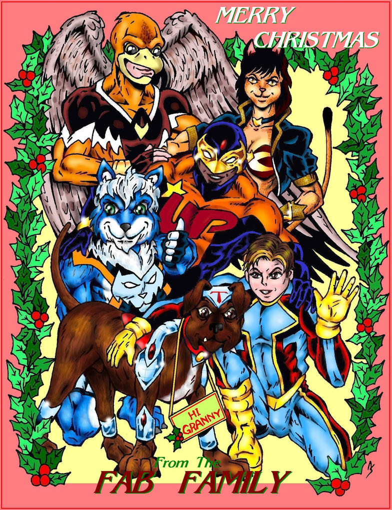 Fab Family Holiday Greetings By Captain86 On Deviantart
