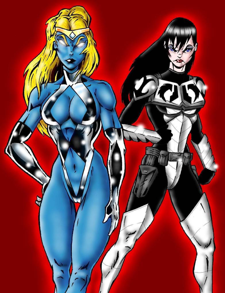 Cyberkitten01's Nexus Girl and Battle Angel by Captain86