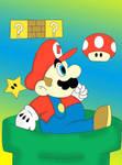 Mario Getting a Mushroom