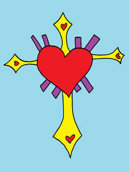 Cross Heart (colored)