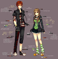 CE: Pair Outfits Contest Design by xadako