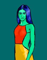 Color Palette Study: Zendaya by AquaticJM