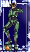 Boobified Space Marine by tabbykat