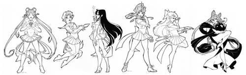Line Up Ladies! by tabbykat