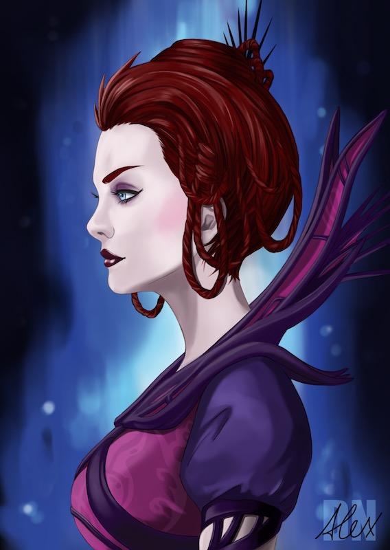Dark Fay Portrait (Artist Edition) by siberzer0