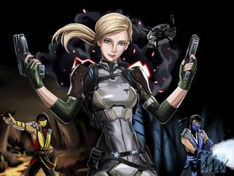 Cassie Cage (Sub-Zero and Scorpion) MK11 by siberzer0