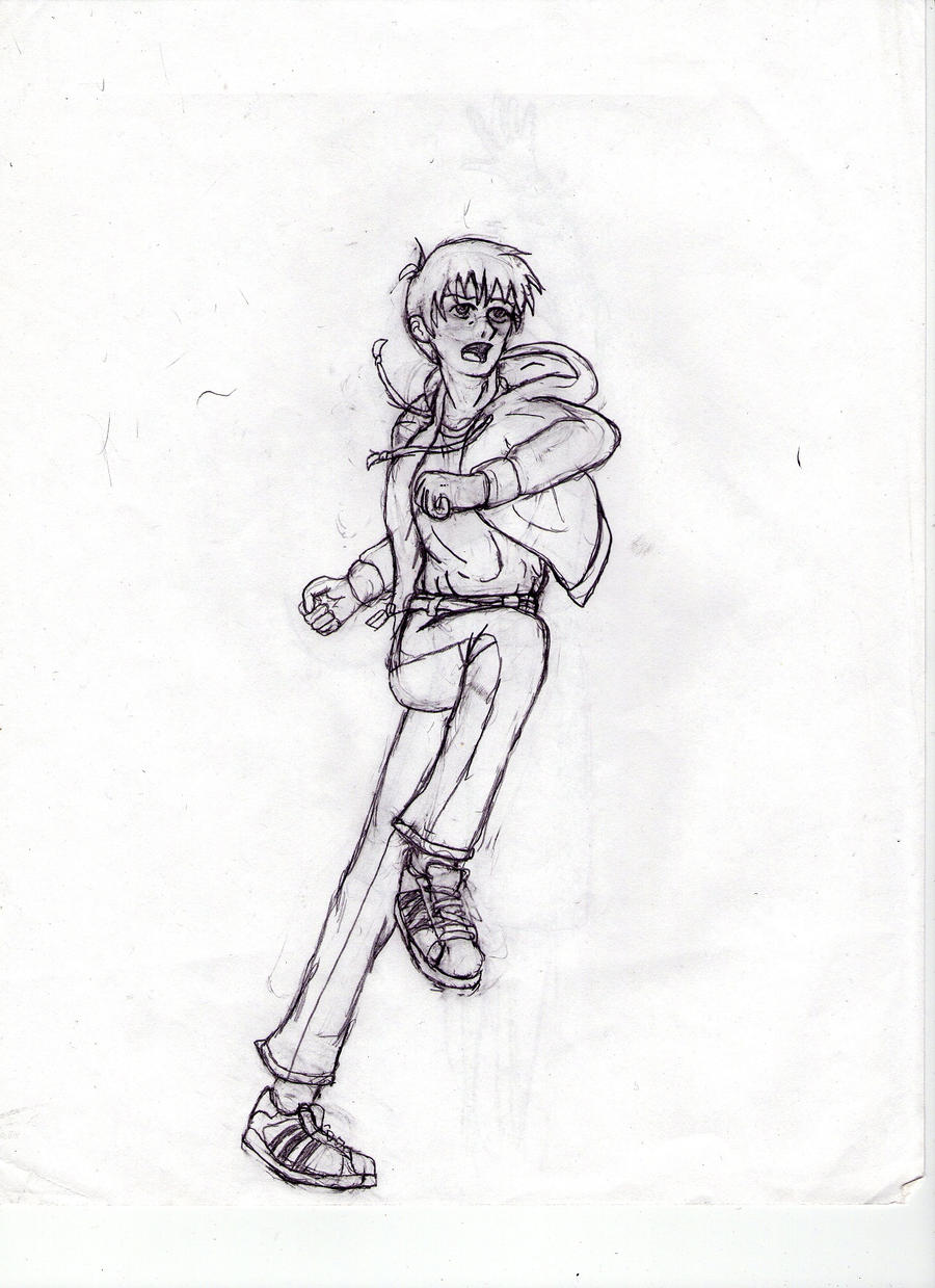 Running action pose