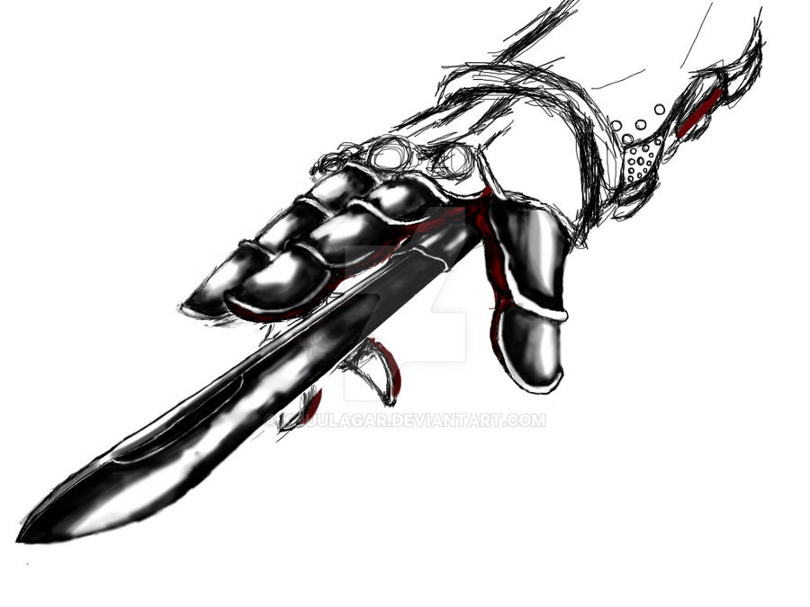 hand blade. hidden blade with a hand by knuulagar