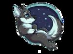 Wolf Starry Night Sticker