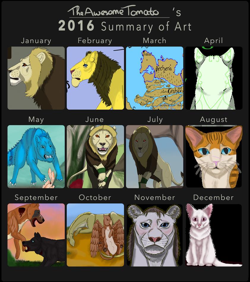 My 2016 art summary by TheAwesomeTomato