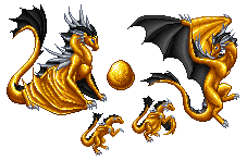 Golden Wyverns by Verridith