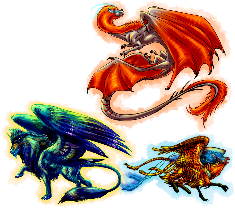 GODS IV: Zacyn, Zailen, and Rahirra by Verridith