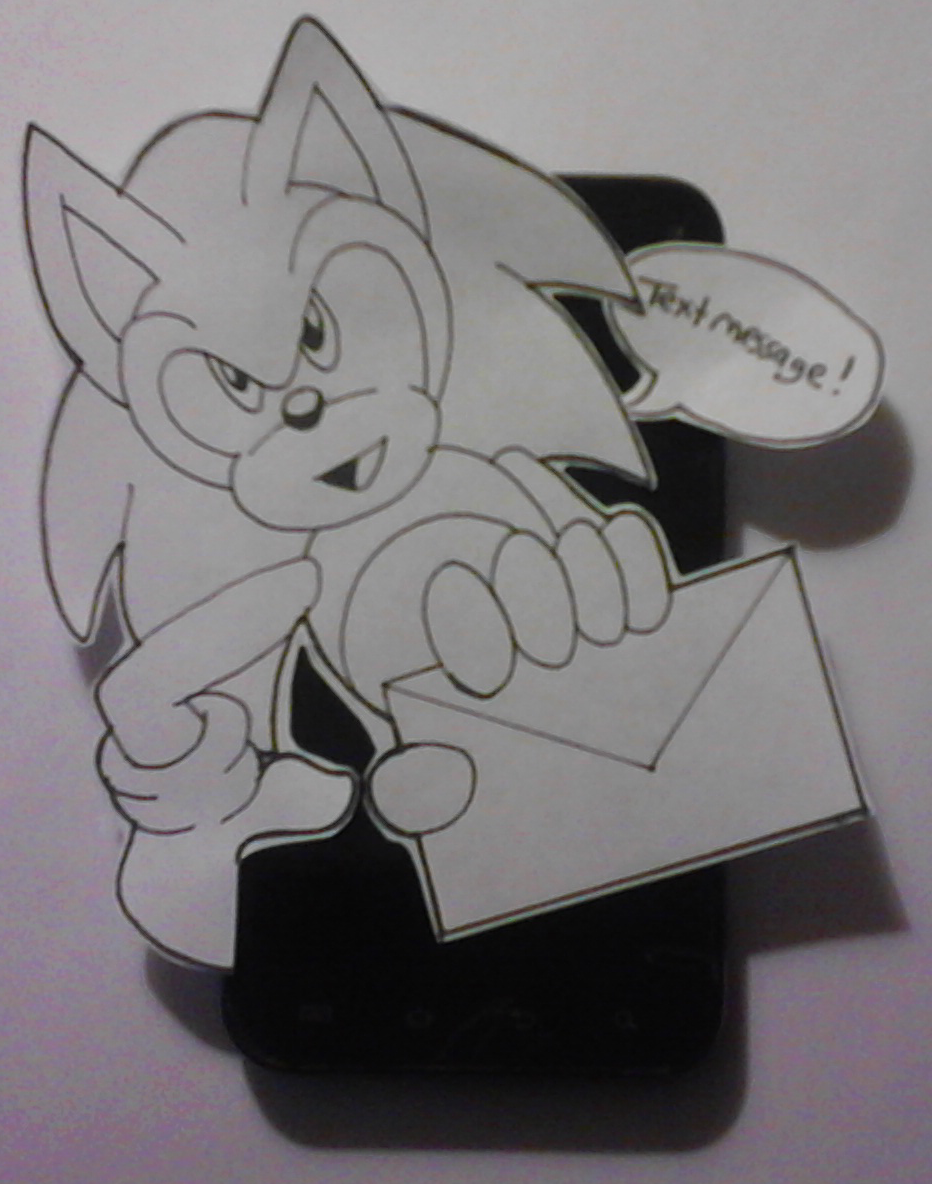 Paper Sonic - Text Message! by SonicRemix