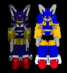 Mecha Sonic Model - Blender Render vs Cycles