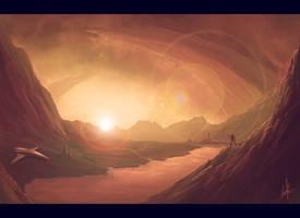 sunset - speed painting
