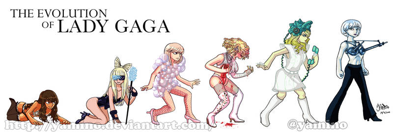Evolution of Lady Gaga
