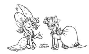 Trixie + Twilight at the Gala
