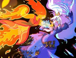 Flame Princess VS Ice Queen Closeup