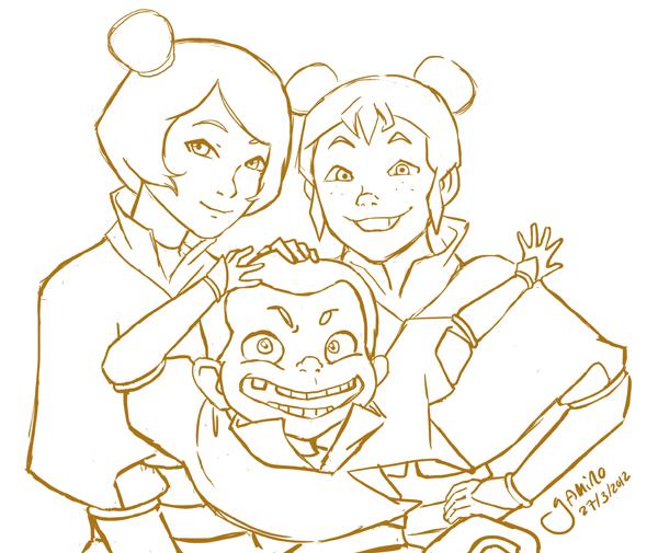 Jinora, Meelo, and Ikki by Yamino