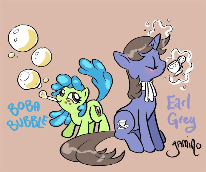 Boba Bubble and Earl Grey by Yamino