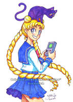 Usagi with Gameboy (Sold!)