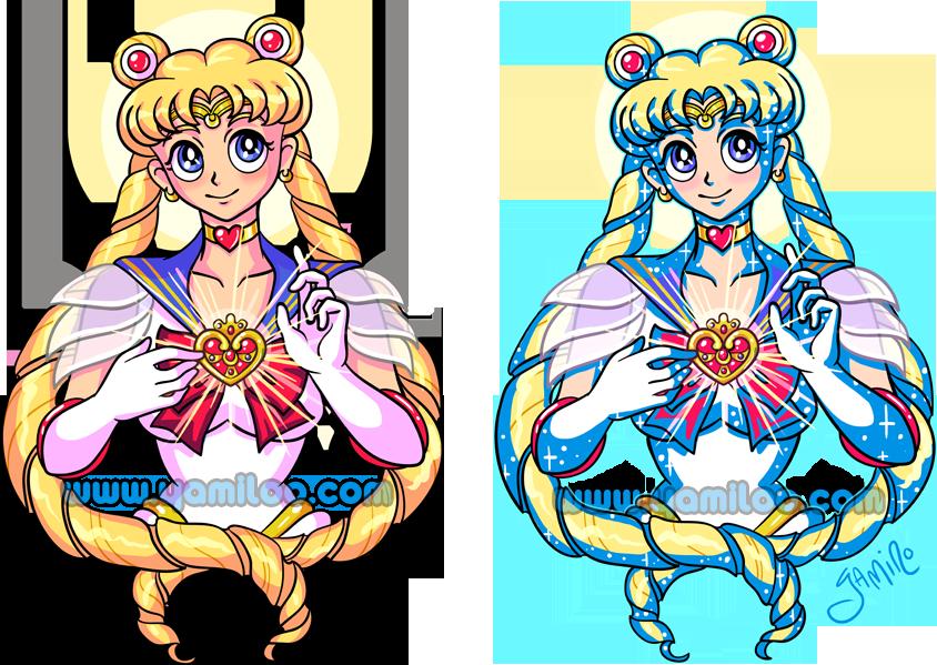 Sailor Moon Tattoo: 2 versions by Yamino
