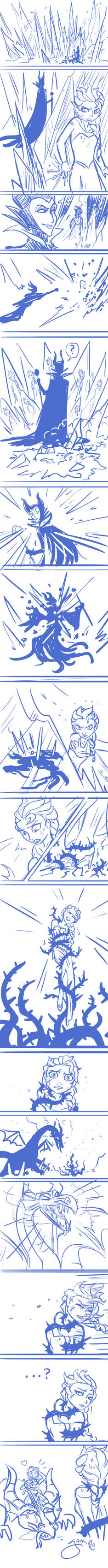 Elsa VS Maleficent
