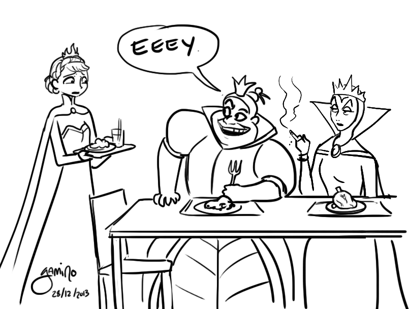 Awkwardness at the Queen's table
