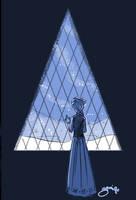 Elsa at the Window by Yamino