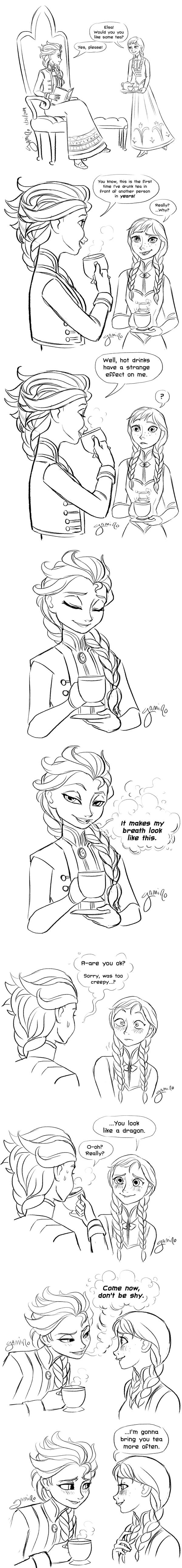 Elsa's Tea Trick by Yamino
