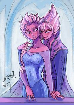 Elsa and Evil!Elsa