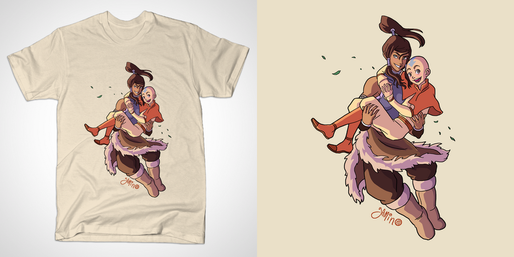 Korra And Aang Fanfiction Korra And Aang Tshirt by