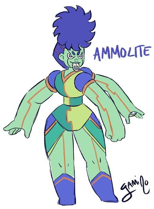 Gemsona Fusion: Purple Ammolite