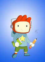 Maxwell from Scribblenauts (Coloured) by 01jdog