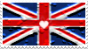 uk - heart - stamp by kaistamps