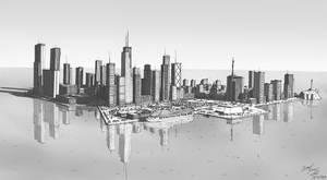 City on the ocean