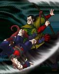 Tokugawa-era Spiderman fight