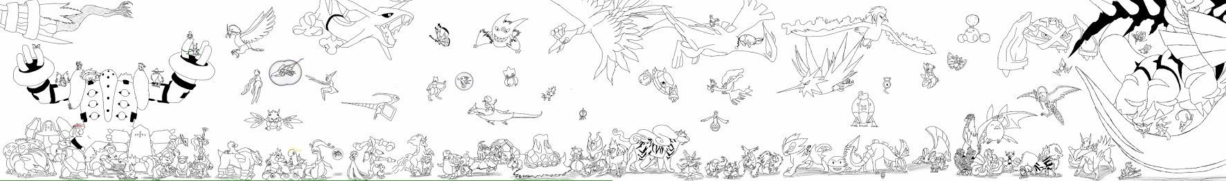 Pokemon WIP by starkittens