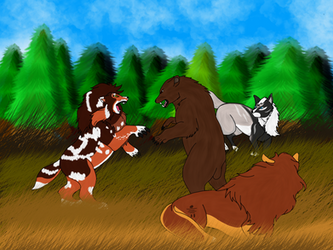 Bear Hunting by starkittens