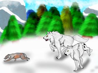 Hunting Siblings by starkittens