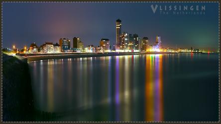 Vlissingen Skyline at Night by Sed4tives
